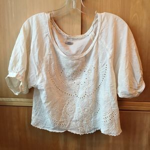 Ecote cream peasant top
